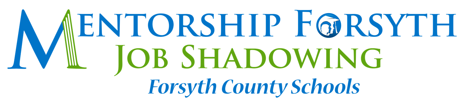 Mentorship Forsyth Job Shadowing logo